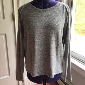 Abercrombie & Fitch soft gray Cold Shoulder Sweate